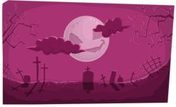 Creepy Graveyard Halloween Illustration