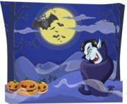 Scary Vampire on Halloween