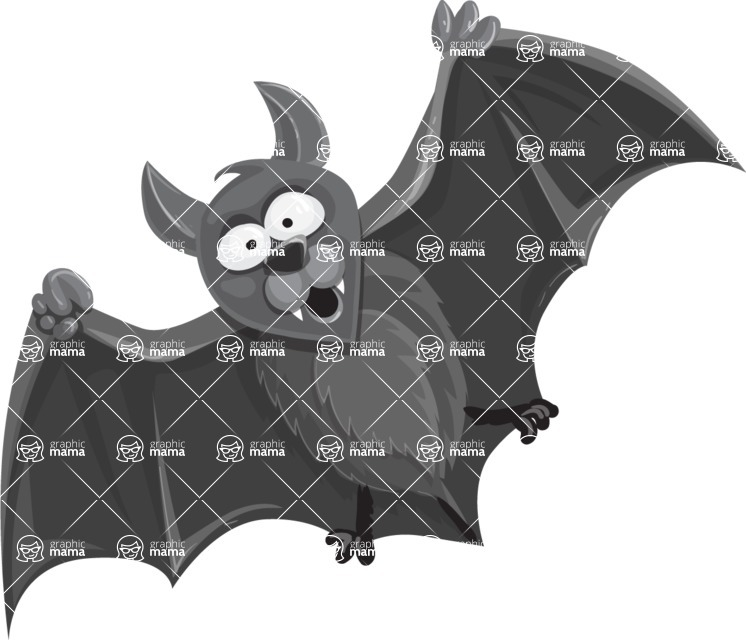 Halloween vector pack - Bat Flying