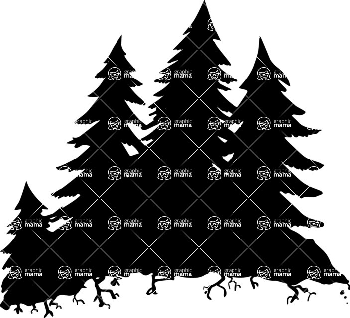 Halloween vector pack - Evergreen Forest Silhouette