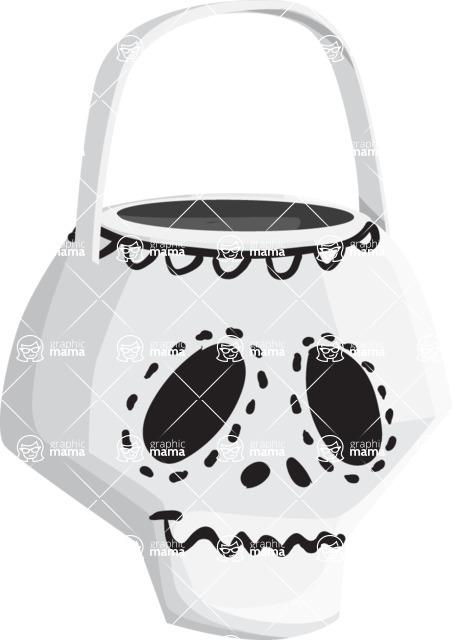 Halloween vector pack - Halloween Skull Bag