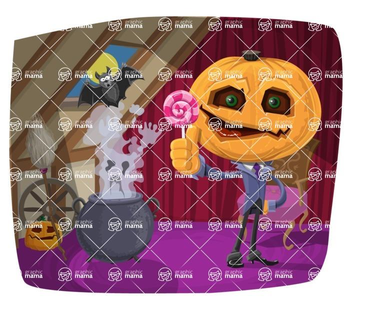 Halloween vector pack - Jack-o-lantern and Ghost Halloween Illustration