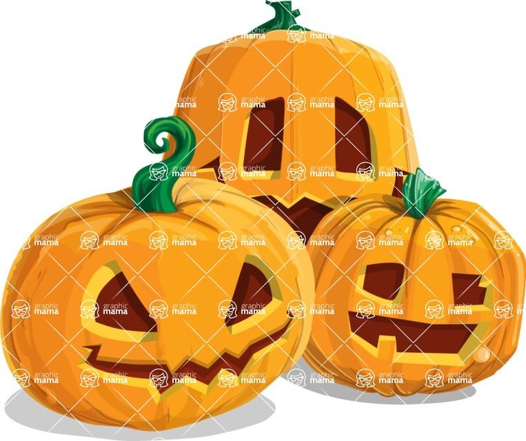 Halloween vector pack - Jack-O-Lanterns 1