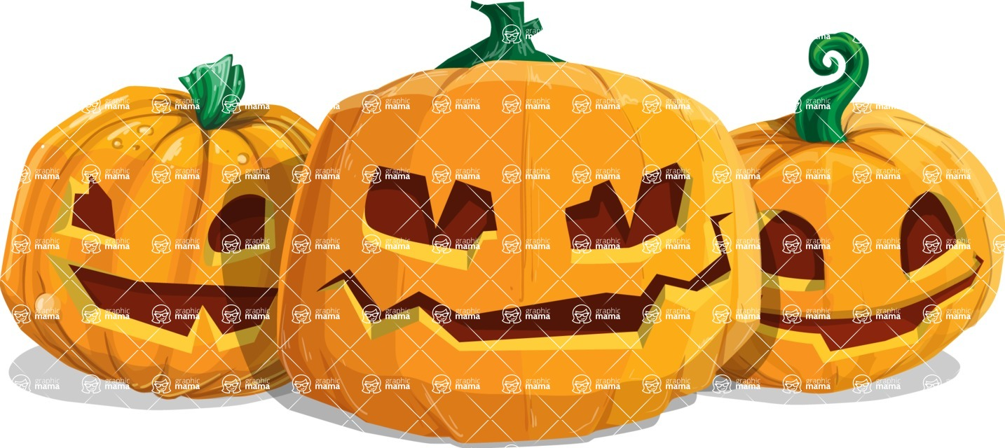 Halloween vector pack - Jack-O-Lanterns 2