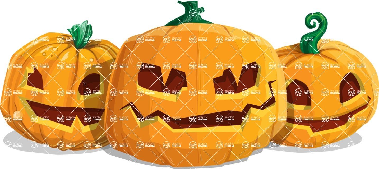 Halloween vector pack - Jack-O-Lanterns 2