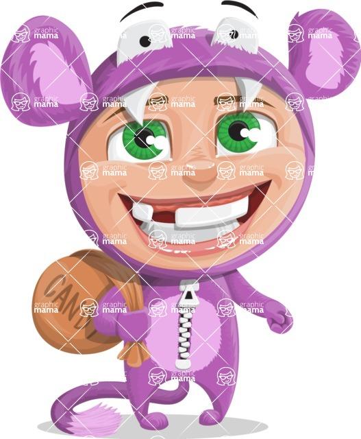 Halloween vector pack - Kid in a Halloween Costume