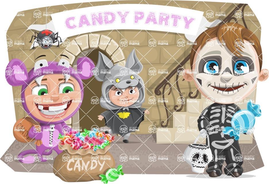 Halloween vector pack - Kids Party For Halloween