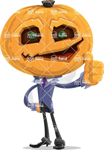Halloween vector pack - Scarecrow Thumb up