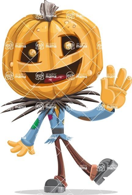 Halloween vector pack - Scarecrow Waving