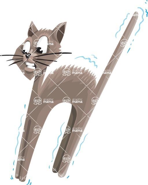 Halloween vector pack - Scared Cat