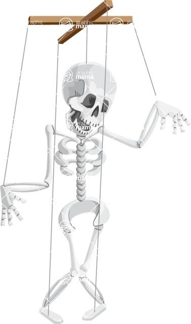 Halloween vector pack - Skeleton Marionette