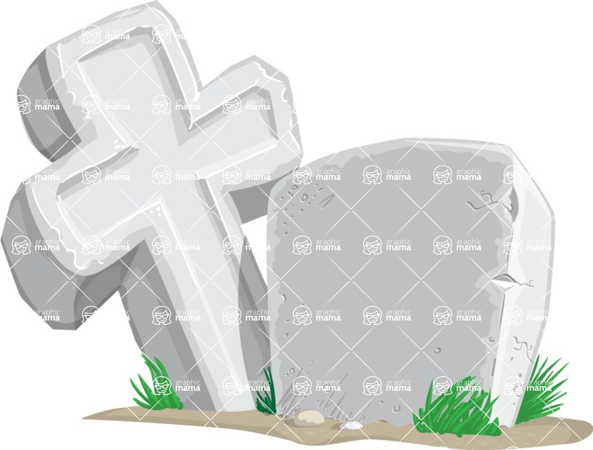 Halloween vector pack - Tombstone and Cross