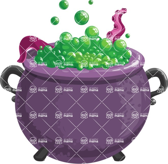 Halloween vector pack - Witch Cauldron