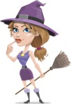 Halloween vector pack - Attractive Witch