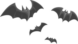 Halloween vector pack - Bats Flying