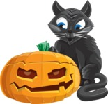 Halloween vector pack - Black Cat and a Jack-O-Lantern