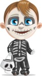 Halloween vector pack - Boy in a Skull Costume