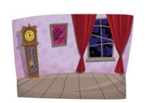 Halloween vector pack - Cartoon Creepy Room