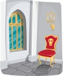 Halloween vector pack - Castle Room Interior Illustration