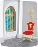 Castle Room Interior Illustration