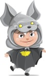 Halloween vector pack - Child in a Bat Costume