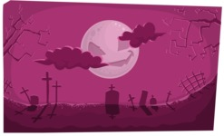 Halloween vector pack - Creepy Graveyard Halloween Illustration