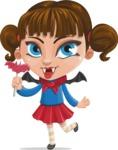 Halloween vector pack - Cute Little Vampire Girl