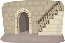 Halloween vector pack - Empty Castle Interior