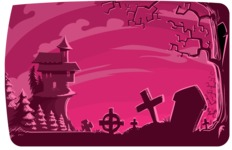 Halloween vector pack - Graveyard Halloween Illustration