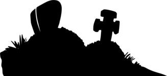 Halloween vector pack - Graveyard Silhouette