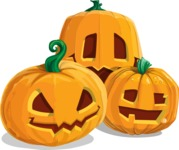 Halloween vector pack - Jack-O-Lanterns 1