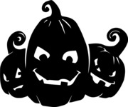 Halloween vector pack - Jack-O-Lanterns Silhouettes