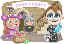Halloween vector pack - Kids Party For Halloween