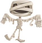 Halloween vector pack - Mummy Walking