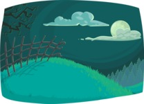 Halloween vector pack - Nature Night Scenery