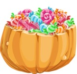 Halloween vector pack - Pumpkin Full of Candies