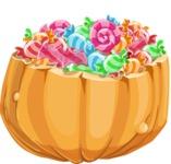 Halloween vector pack - Pumpkin Full of Candies