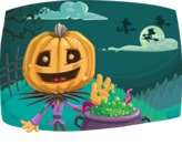 Halloween vector pack - Scarecrow in Halloween Night