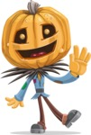 Halloween vector pack - Scarecrow Waving
