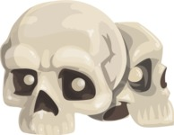 Halloween vector pack - Skulls Illustration