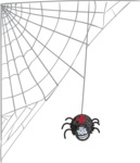 Halloween vector pack - Spider Hanging From Web