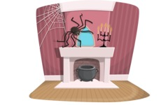 Halloween vector pack - Spooky Witch Room