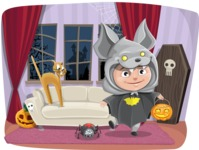 Halloween vector pack - Trick-or-Treating on Halloween