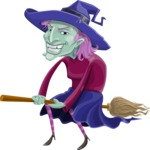 Halloween vector pack - Ugly Witch