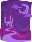Halloween vector pack - Vampire Castle Night Scenery