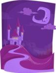 Halloween vector pack - Vampire Castle Night Scenery
