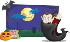 Vampire Dracula on Halloween