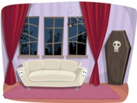 Halloween vector pack - Vampire Living Room Illustration