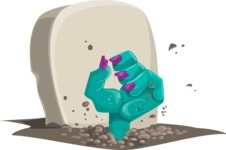 Halloween vector pack - Zombie Hand Coming Out of Grave