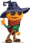 Halloween Scarecrow Cartoon Vector Character - Being Cool